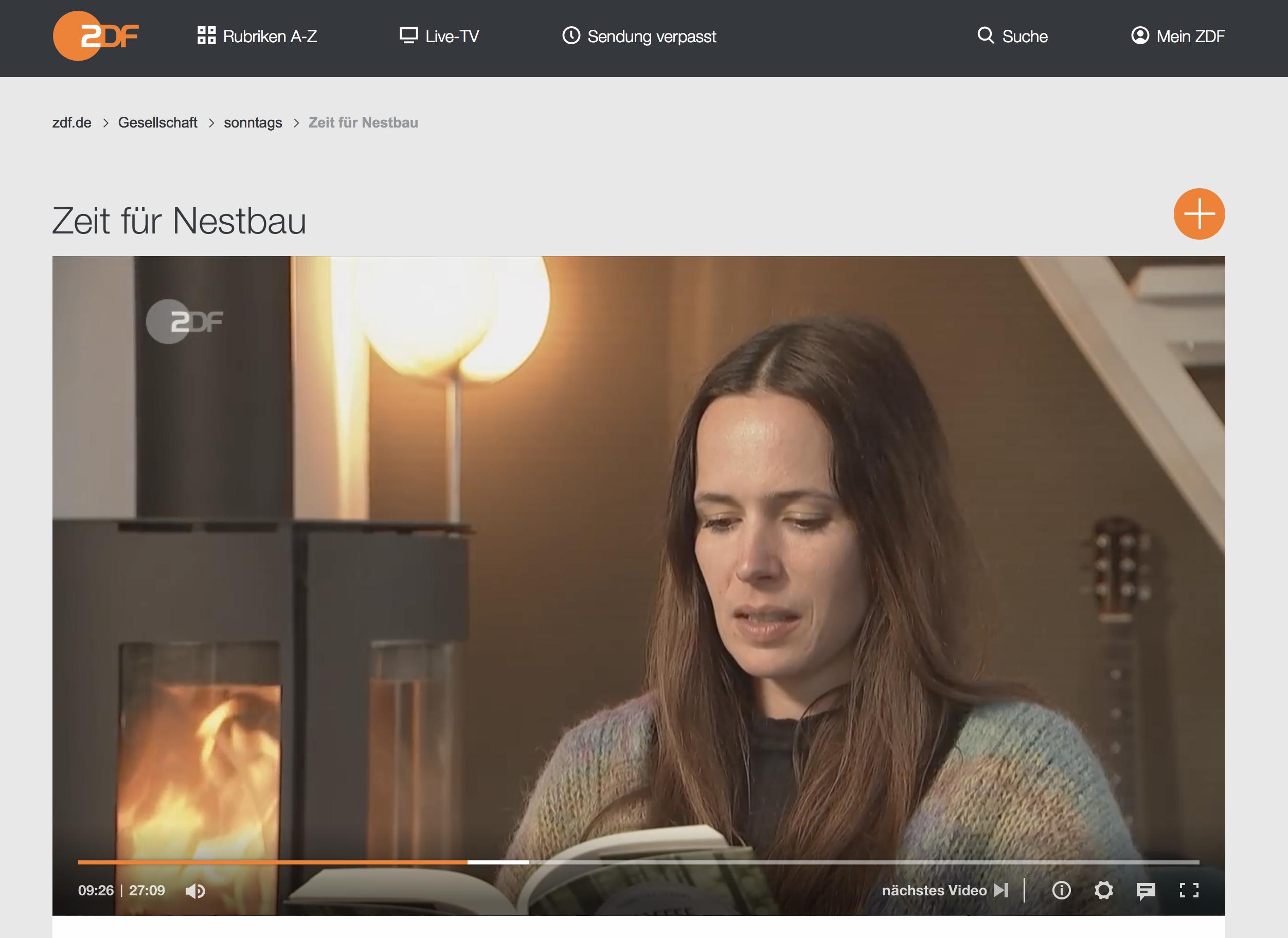 Franziska und Carsten Jebens in der Sendung »Nestbau« im ZDF