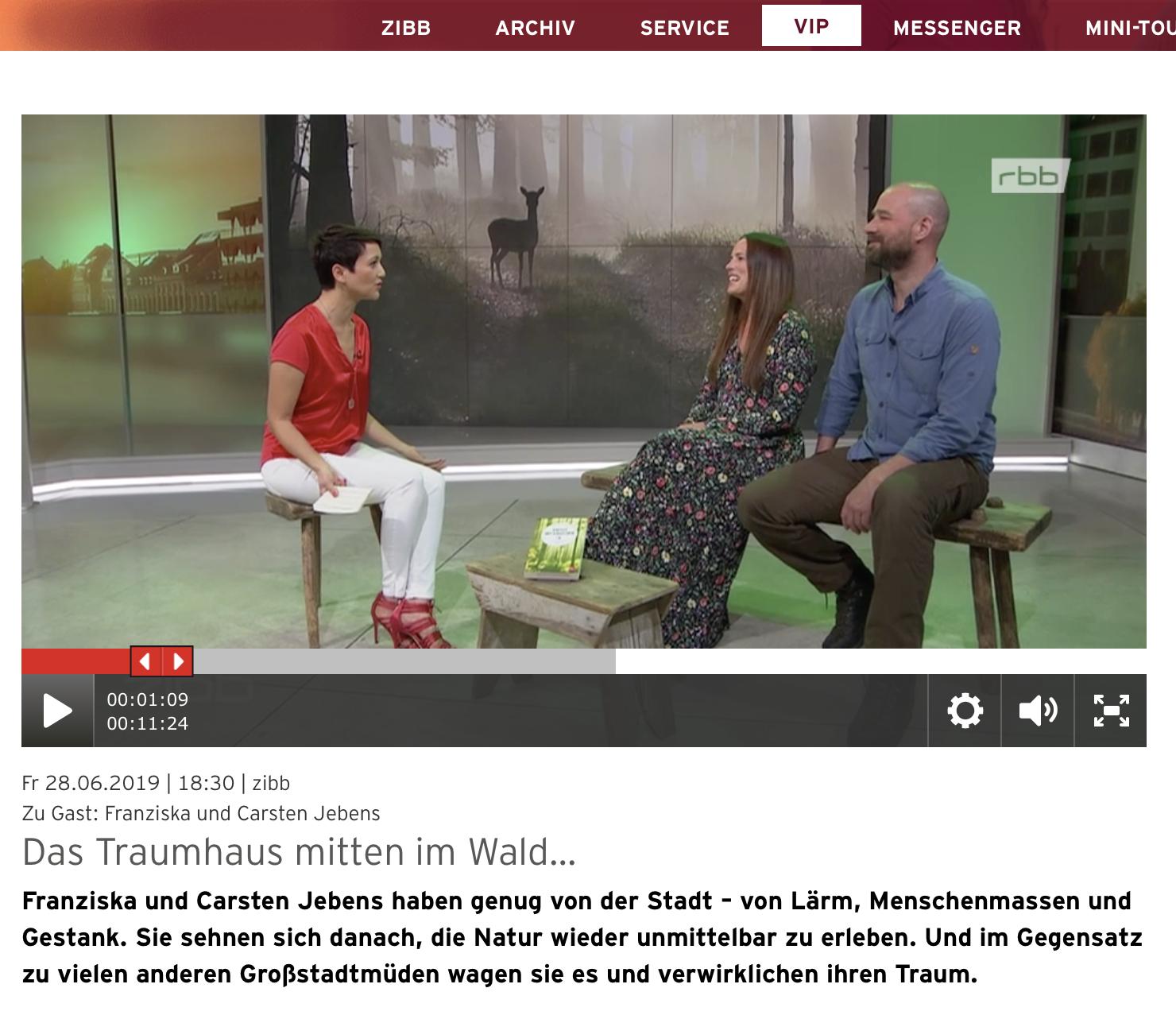 Franziska und Carsten Jebens bei RBB Zibb
